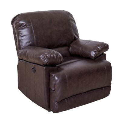 Coyer Power No Motion Recliner Upholstery: Chocolate Brown