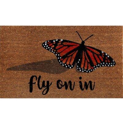 Fidler Coir Fibre Butterfly Doormat