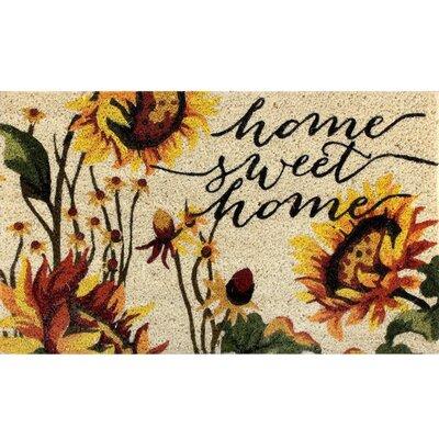 Fiecke Coir Fibre Sunflower Doormat