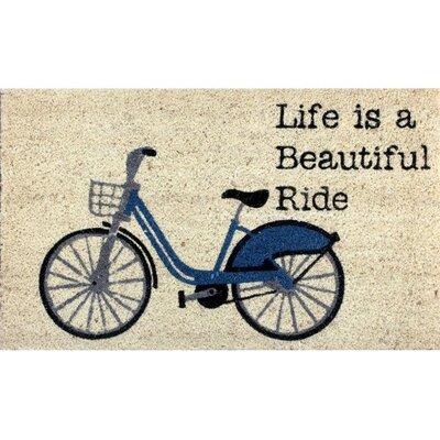Kerak Coir Fibre Bicycle Doormat
