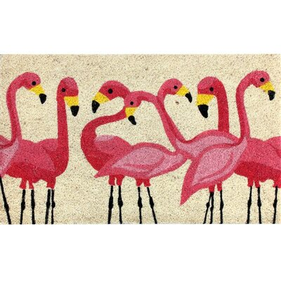 Sylvan Coir Fibre Flamingo Doormat