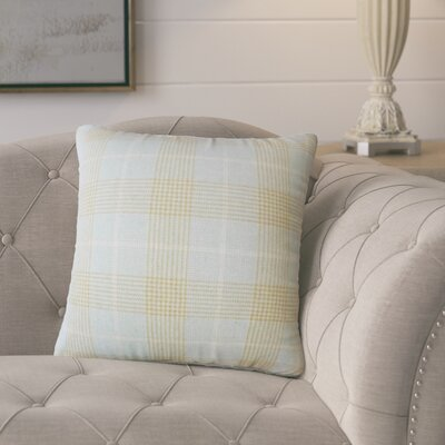 Harriette Plaid Throw Pillow Color: Seaglass