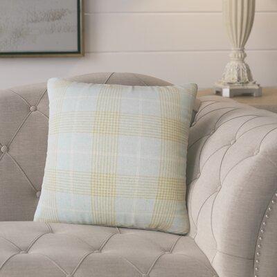 Harriette Plaid Throw Pillow Color: Seaglass