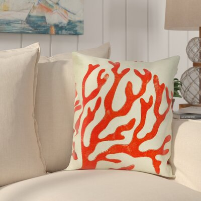 Clarkstown Coral Throw Pillow Color: Red