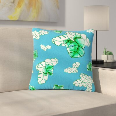 Danii Pollehn Palmtree Outdoor Throw Pillow Size: 16 H x 16 W x 5 D