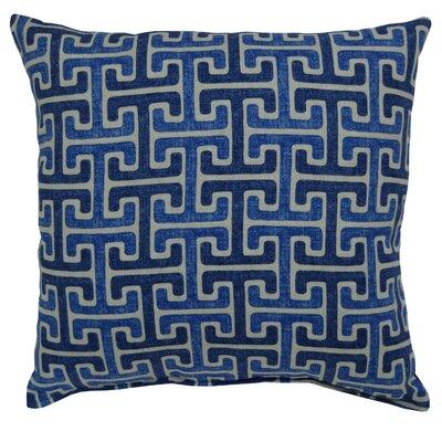 Mulvaney Cotton Throw Pillow Color: Denim