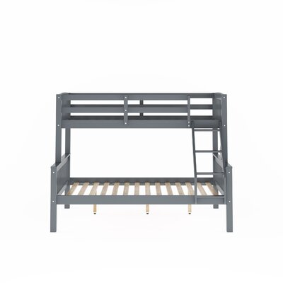 Edson Twin Over Full Bed Bed Frame Color: Gray