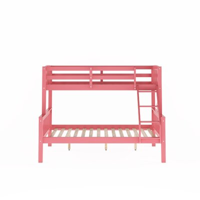 Edson Twin Over Full Bed Bed Frame Color: Pink