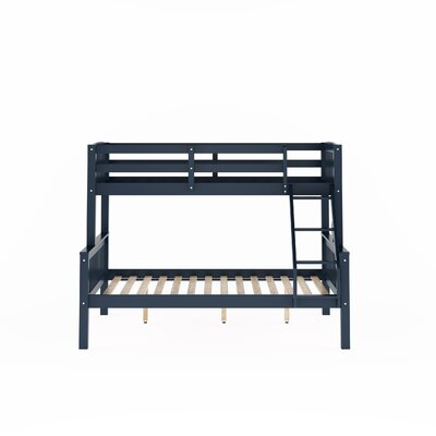 Edson Twin Over Full Bed Bed Frame Color: Navy Blue