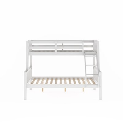 Edson Twin Over Full Bed Bed Frame Color: White