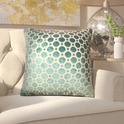 Maeve Geometric Cotton Throw Pillow Cover Color: Turquoise