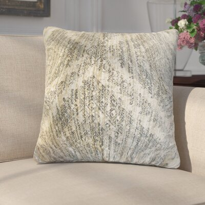 Giustino Cotton Throw Pillow Color: Pewter
