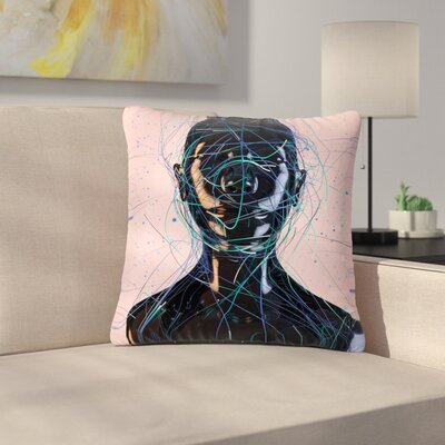 Danny Ivan Calm Woman Outdoor Throw Pillow Size: 18 H x 18 W x 5 D