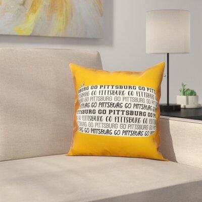 Pennsylvania Go Team Square Throw Pillow