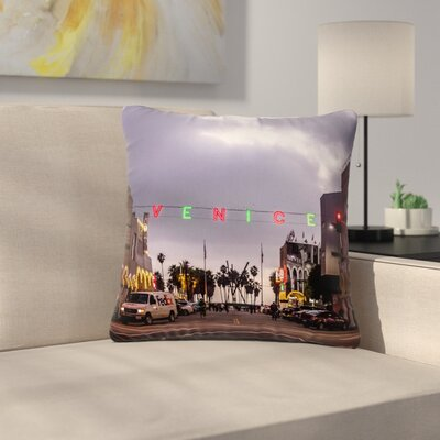 Juan Paolo Venice Christmas Holiday Photography Outdoor Throw Pillow Size: 16 H x 16 W x 5 D