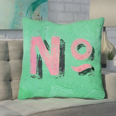 Enciso Graphic Indoor Wall Euro Pillow Color: Green/Pink