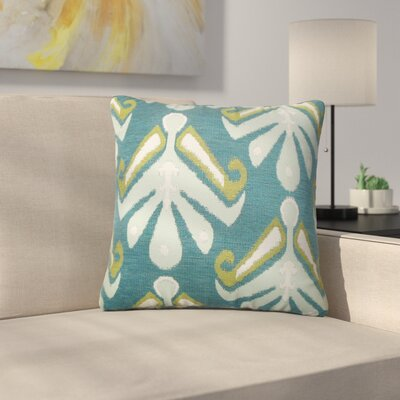 Jarosz Sullins Ikat Throw Pillow Color: Aqua Green