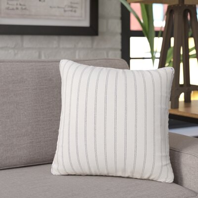Jonathan Burlap Brick Throw Pillow Size: 16 H x 16 W x 6 D, Color: Ivory