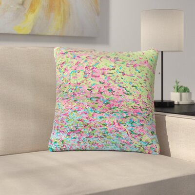 Empire Ruhl Spring Puddle Abstract Digital Outdoor Throw Pillow Size: 18 H x 18 W x 5 D