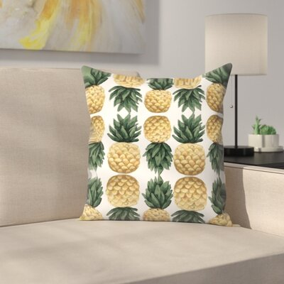 Jetty Printables Painted Pineapple Pattern Throw Pillow Size: 18 x 18