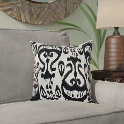 Bridgehampton Ikat Geometric Print Throw Pillow Size: 16