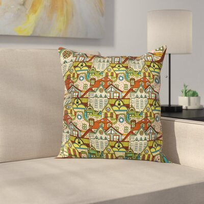 Old City Town Square Pillow Cover Size: 24 x 24