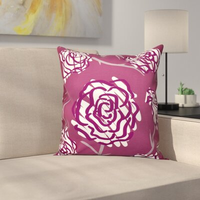 Speth Spring Floral Outdoor Throw Pillow Size: 18 H x 18 W, Color: Purple