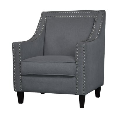 Ebron Traditional Armchair Upholstery: Light Gray