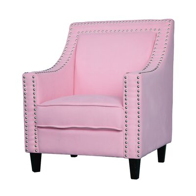 Ebron Traditional Armchair Upholstery: Pink