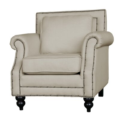 Herrell Traditional Upholstered Armchair Upholstery: Beige