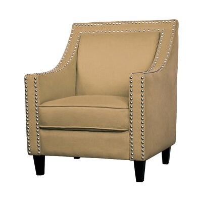 Ebron Traditional Armchair Upholstery: Tan