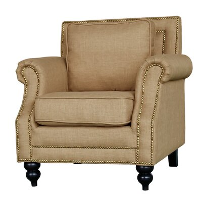 Herrell Traditional Upholstered Armchair Upholstery: Tan