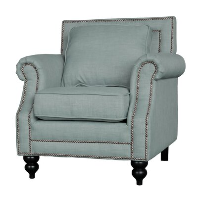 Herrell Traditional Upholstered Armchair Upholstery: Gray