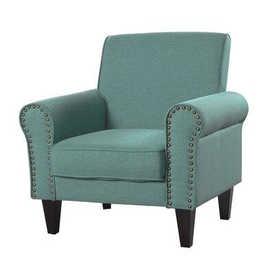 Ebner Upholstered Armchair Upholstery: Green