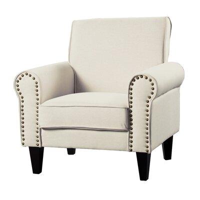 Ebner Upholstered Armchair Upholstery: Beige
