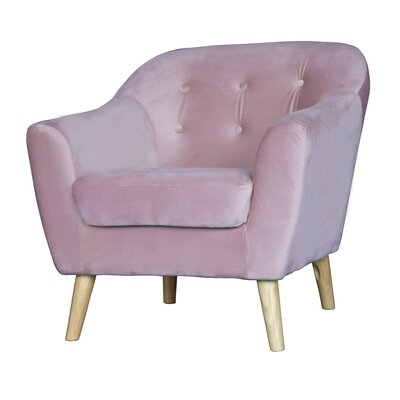 Zendejas Mid Century Modern Barrel Chair Upholstery: Pink