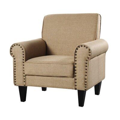 Ebner Upholstered Armchair Upholstery: Tan