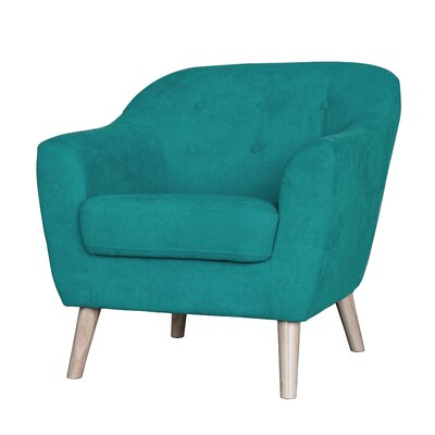 Zendejas Mid Century Modern Barrel Chair Upholstery: Sea Green