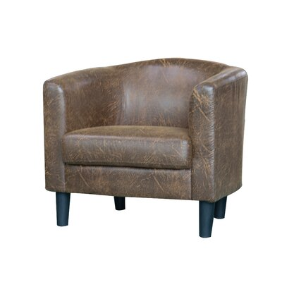 Ayre Barrel Chair Upholstery: Light Brown