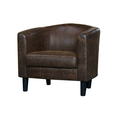 Ayre Barrel Chair Upholstery: Brown