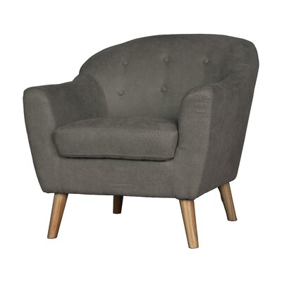 Zendejas Mid Century Modern Barrel Chair Upholstery: Light Gray