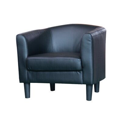 Ayre Barrel Chair Upholstery: Black