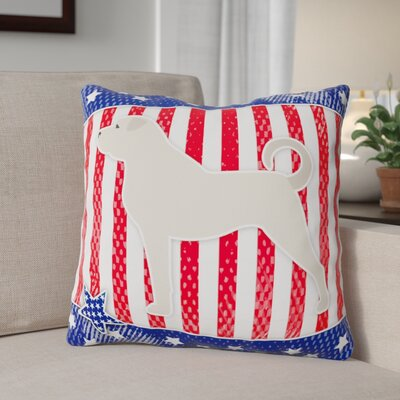 Patriotic Square Solid Pattern Indoor/Outdoor Throw Pillow Size: 14 H x 14 W x 3 D