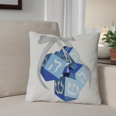 Turn, Turn, Turn Outdoor Throw Pillow Size: 18 H x 18 W, Color: White