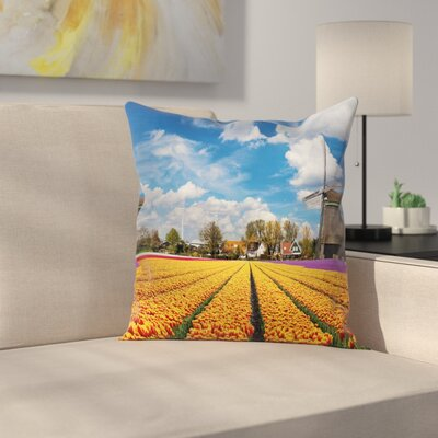 Windmill Decor Rustic Holland Square Pillow Cover Size: 18 x 18