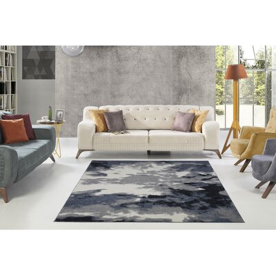 Toronto Toronto Sky Gray Area Rug Rug Size: Rectangle 27 x 411