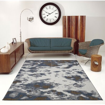 Toronto Brampton Ivory/Gray Area Rug Rug Size: Rectangle 53 x 76