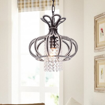 Mcginn 1-Light Crystal Pendant