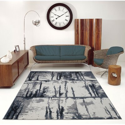 Toronto Niagara Gray/Ivory Area Rug Rug Size: Rectangle 53 x 76