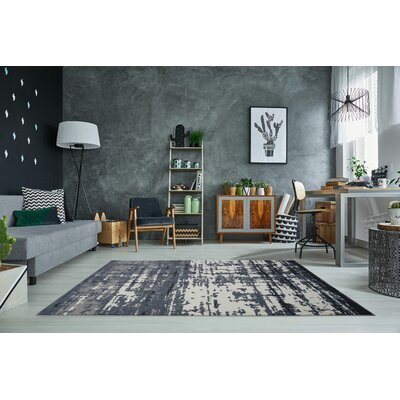 Toronto Barrie Gray/Ivory Area Rug Rug Size: Rectangle 53 x 76